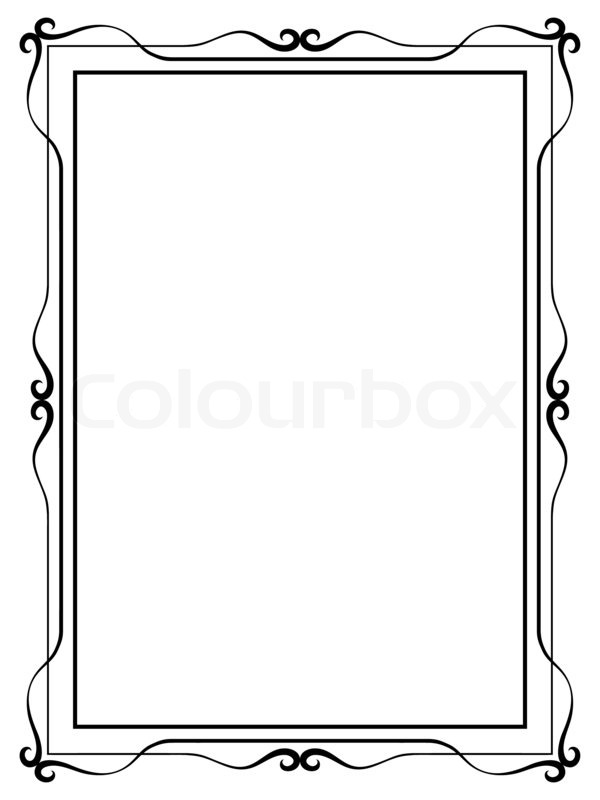simple ornamental decorative frame stock photo colourbox - Drawing Frame