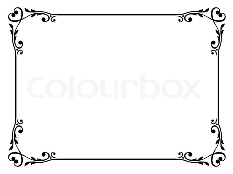 Kalligraphie ornamentalen dekorativen Rahmen mit Herz | Stockfoto ...
