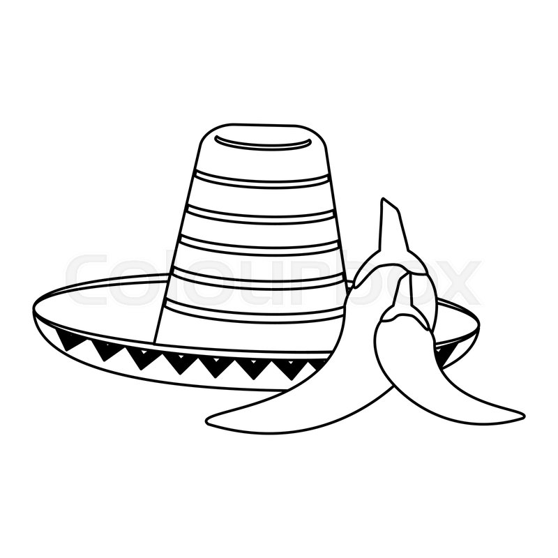Cinco De Mayo Mexican Wide Brimmed Hat Sombrero Lettering Text Stock  Illustration - Download Image Now - iStock
