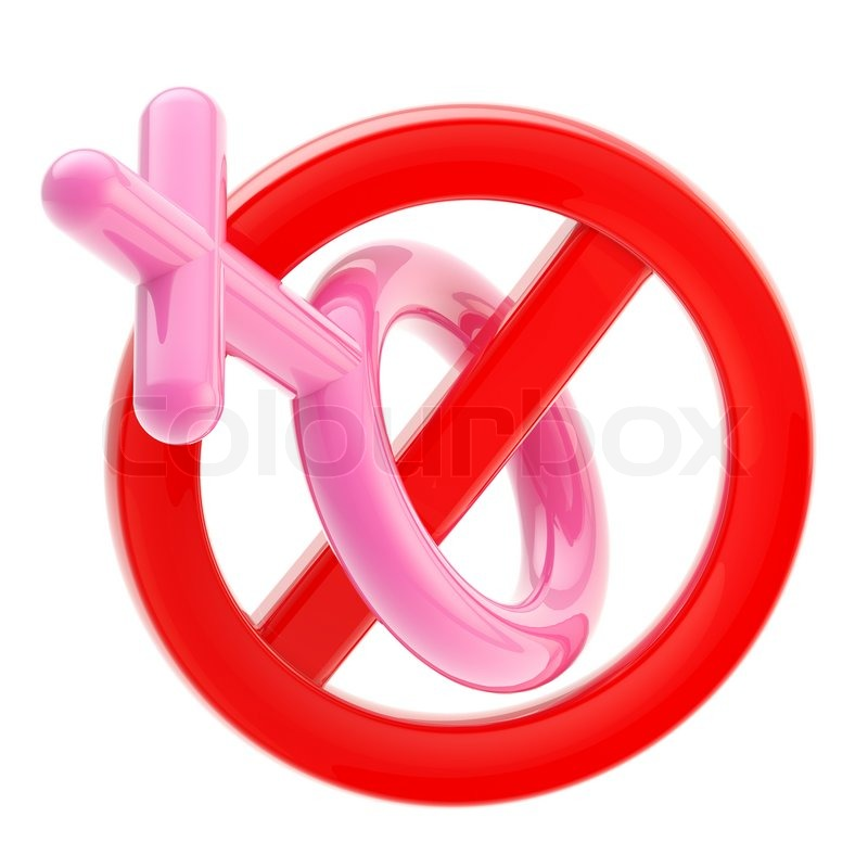 Stock image of 'Female not allowed sign isolated'