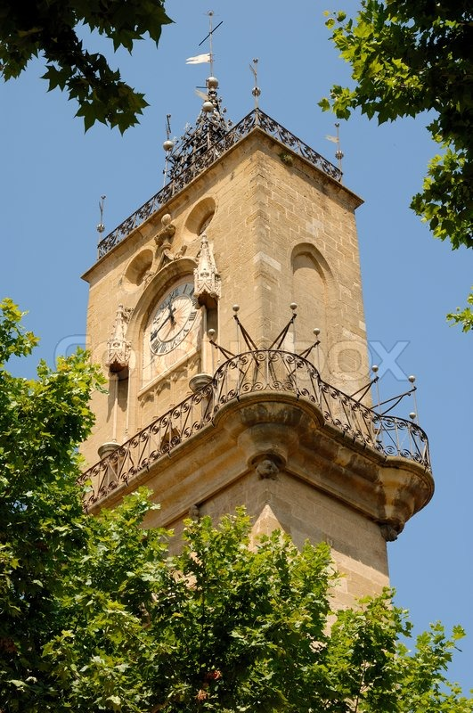 Clock Tower Of The Hotel De Ville In Stock Image Colourbox