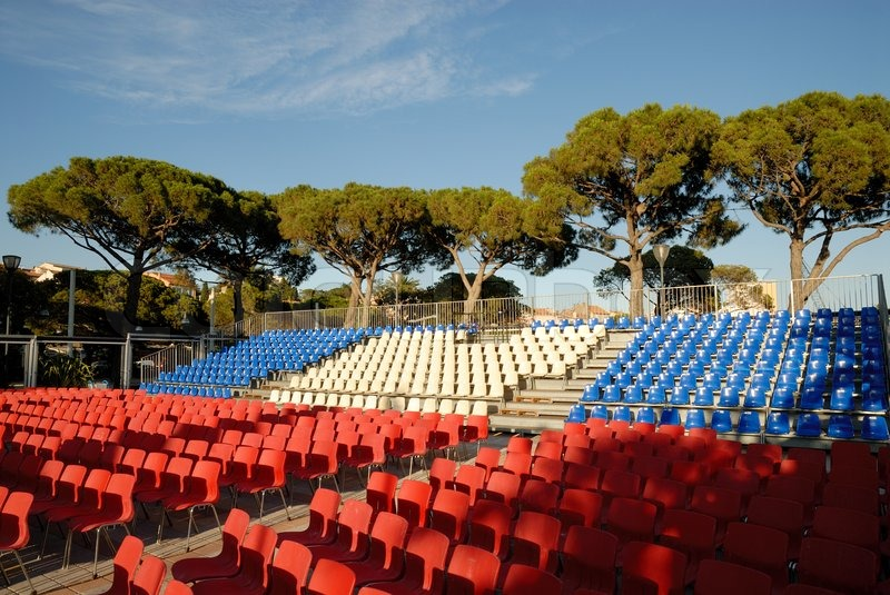 open air cinema in saint maxime france stock photo colourbox. Black Bedroom Furniture Sets. Home Design Ideas