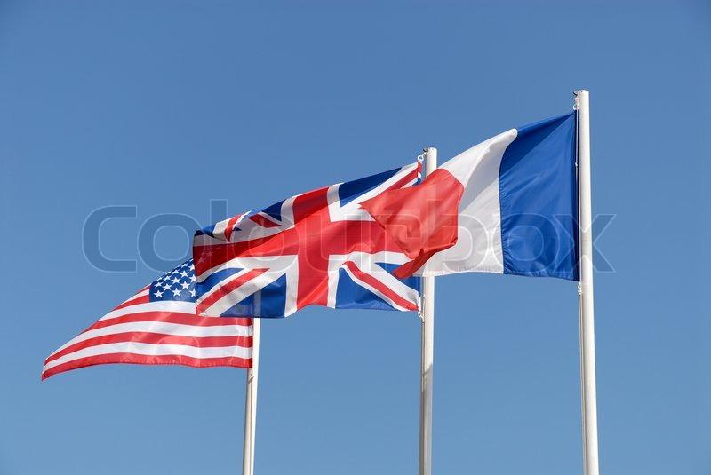 Nationale fahnen von gro britannien den usa und for Boden great britain