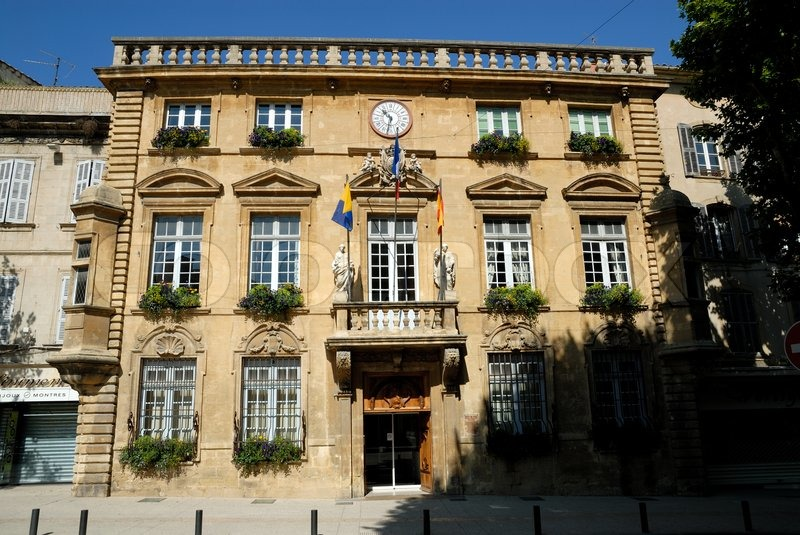 Hotel de ville town hall in salon de provence france stock photo colourbox - Casino drive salon de provence ...