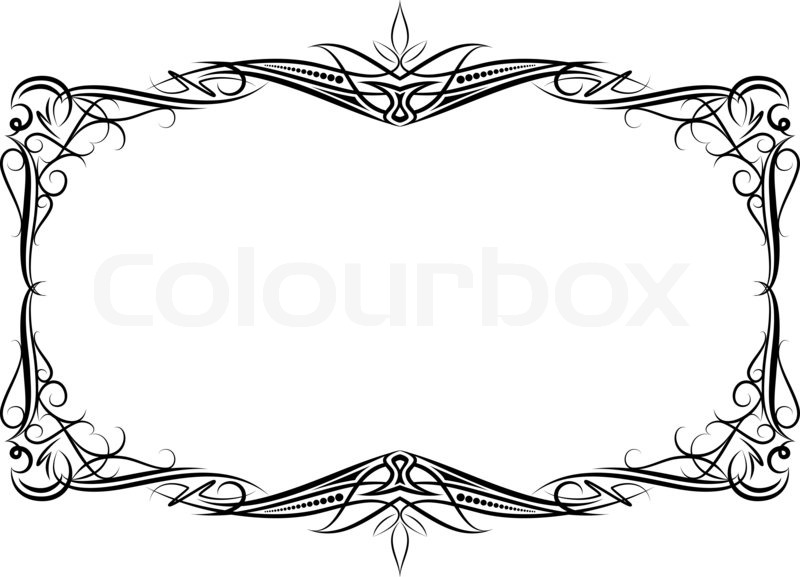 Elegant decorative frame | Stock Photo | Colourbox