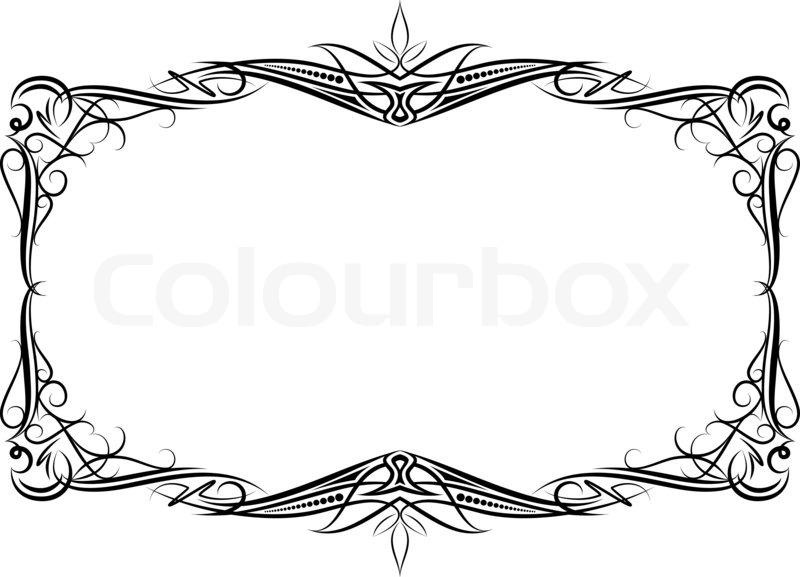 elegant decorative frame stock photo colourbox - Elegant Frames