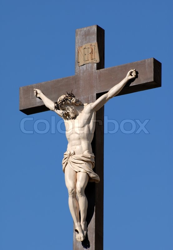 Statue of Jesus Christ at cross in Avignon, France | Stock ...