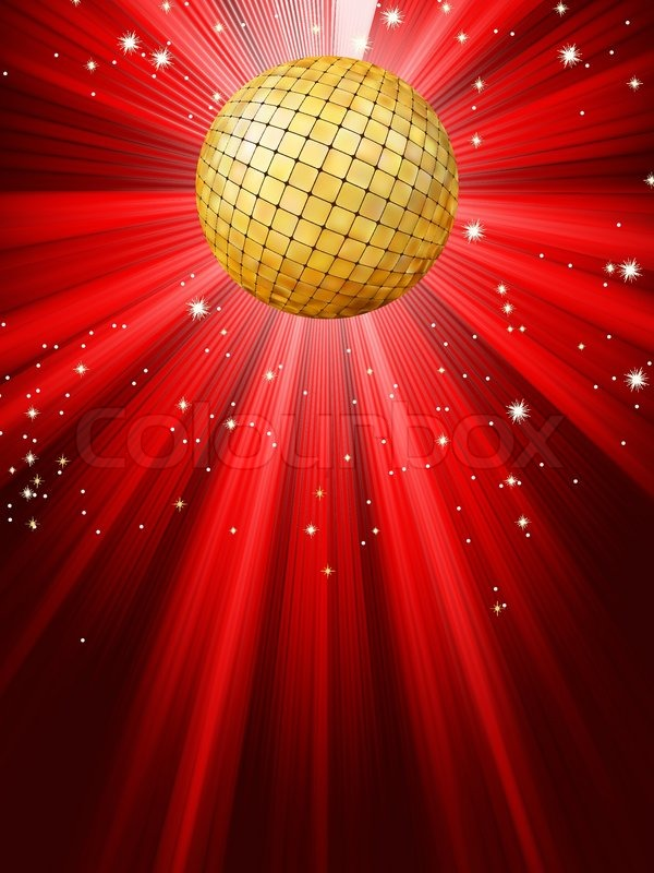 Sparkling Red Disco Ball Eps 8 Stock Vector Colourbox