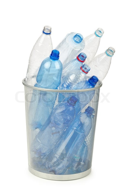 Empty plastic water bottles on white stock photo colourbox for What to do with empty plastic bottles