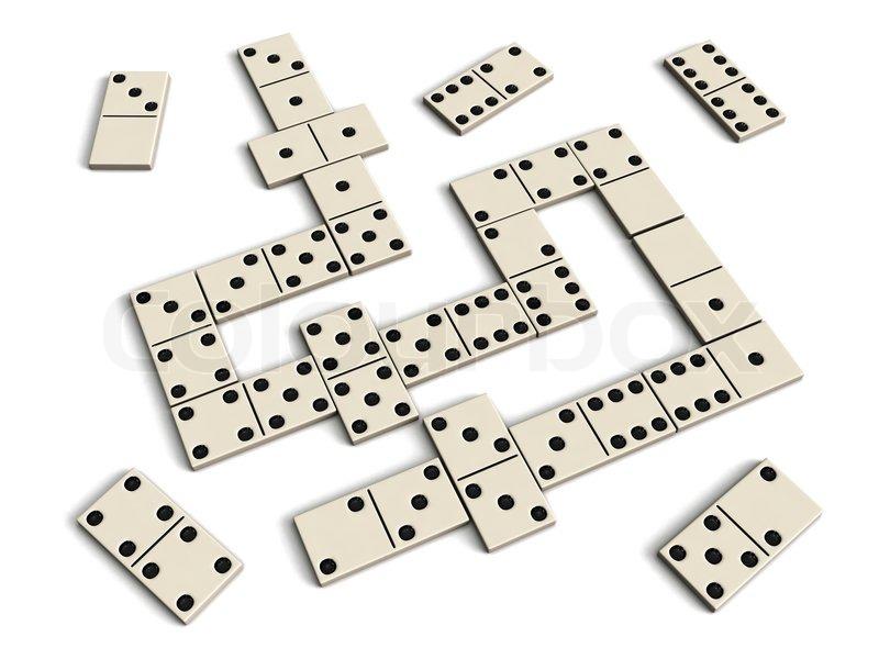 Domino game, stock photo