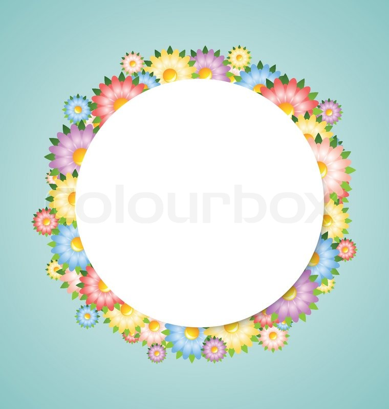 flower bubble template stock vector colourbox