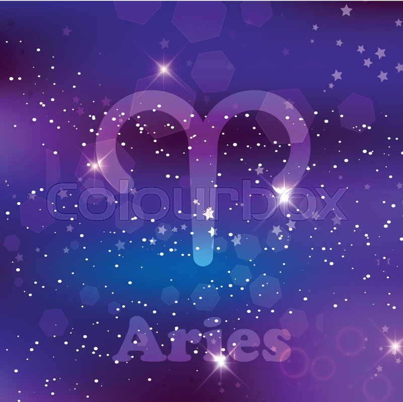 Aries Zodiac Sign And Constellation On Stock Vector Colourbox