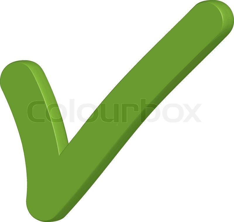 Häkchen-Symbol grün | Vektorgrafik | Colourbox