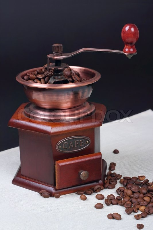 Stock image of 'Still-life with a manual coffee grinder'