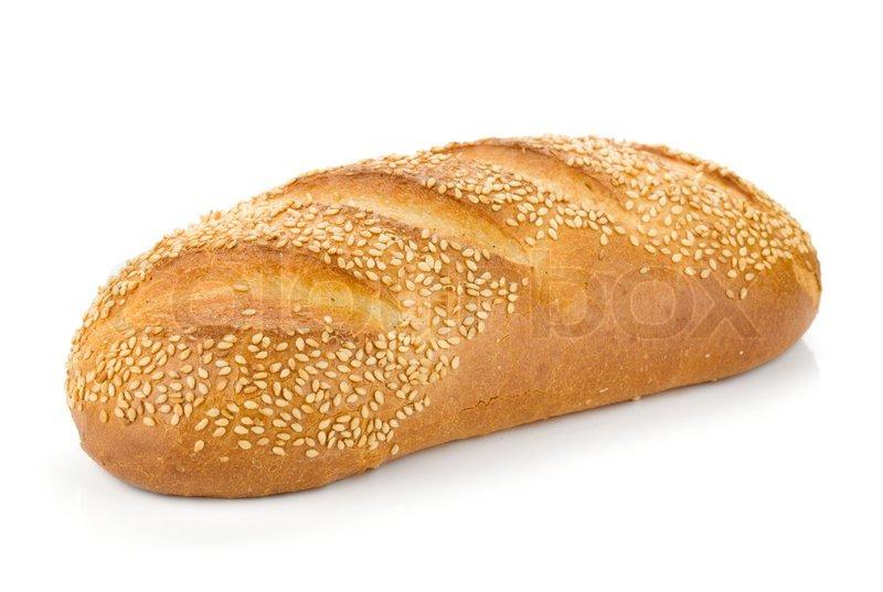 White bread with sesame | Stock Photo | Colourbox