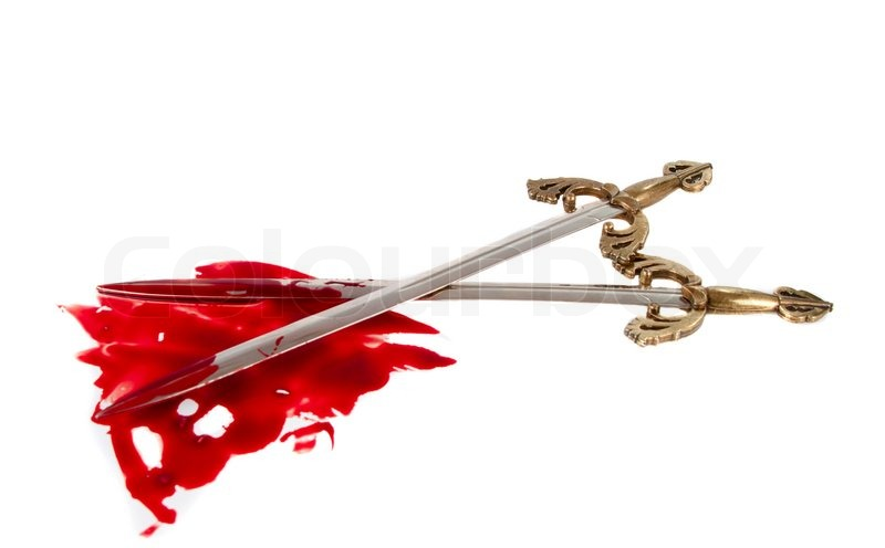Sword With Blood Stock Image Colourbox Swords of Blood