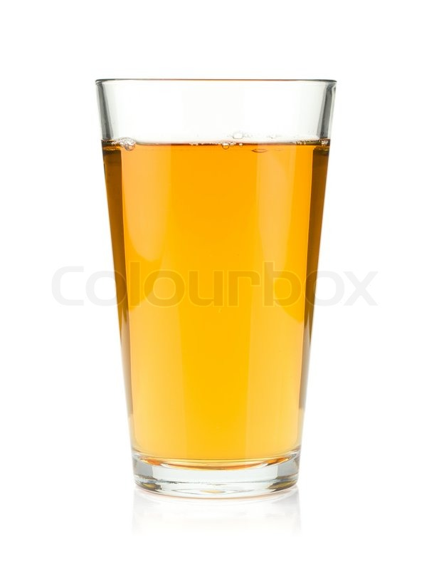 Apple juice in a glass   Stock Photo   Colourbox