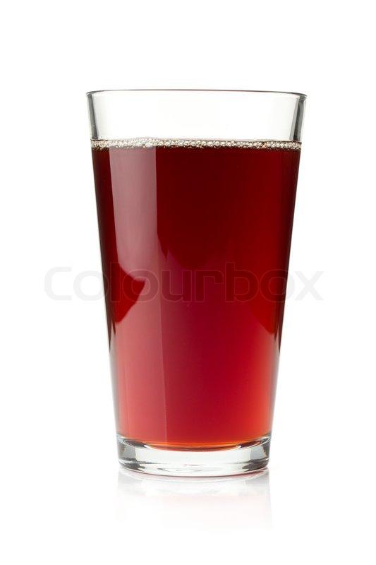 Pomegranate juice in a glass | Stock Photo | Colourbox