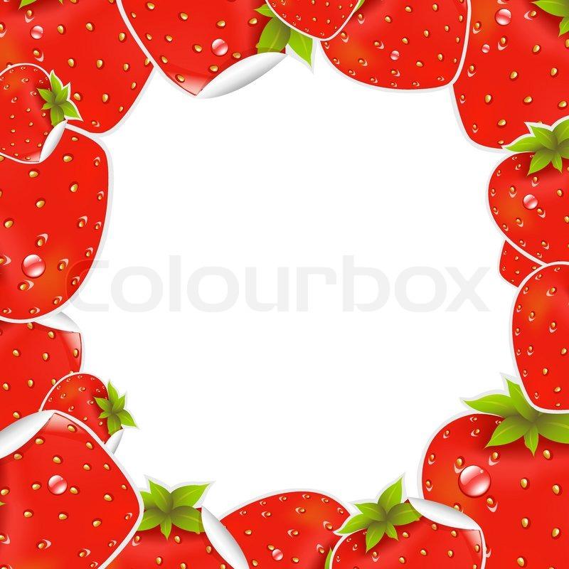 Label Strawberry Frame, Vector Illustration | Stock Vector | Colourbox