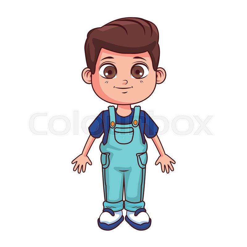 Boy Smiling Kid Cartoon Vector Stock Vector Colourbox