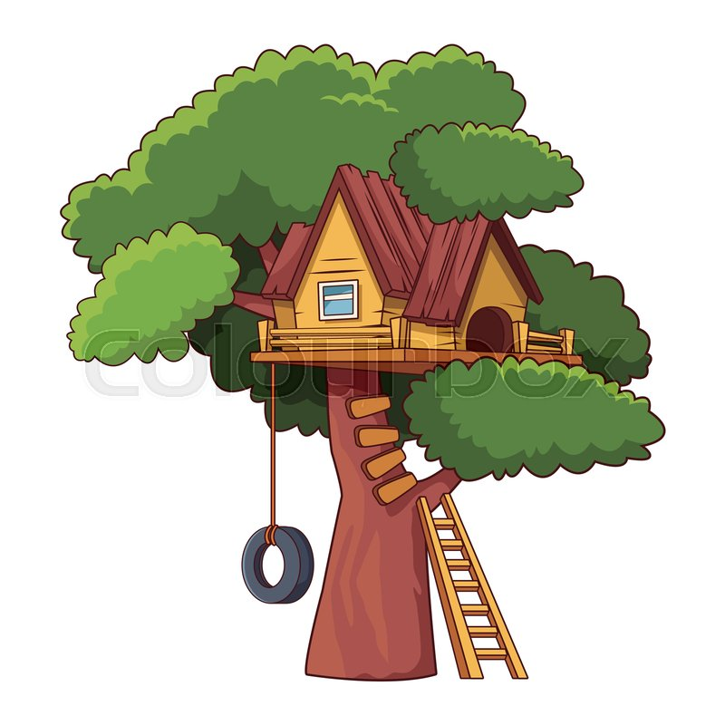 Kids Tree House Cartoon Vector Stock Vector Colourbox Subscribe to treehouse direct for new clips, episodes kids tree house cartoon vector