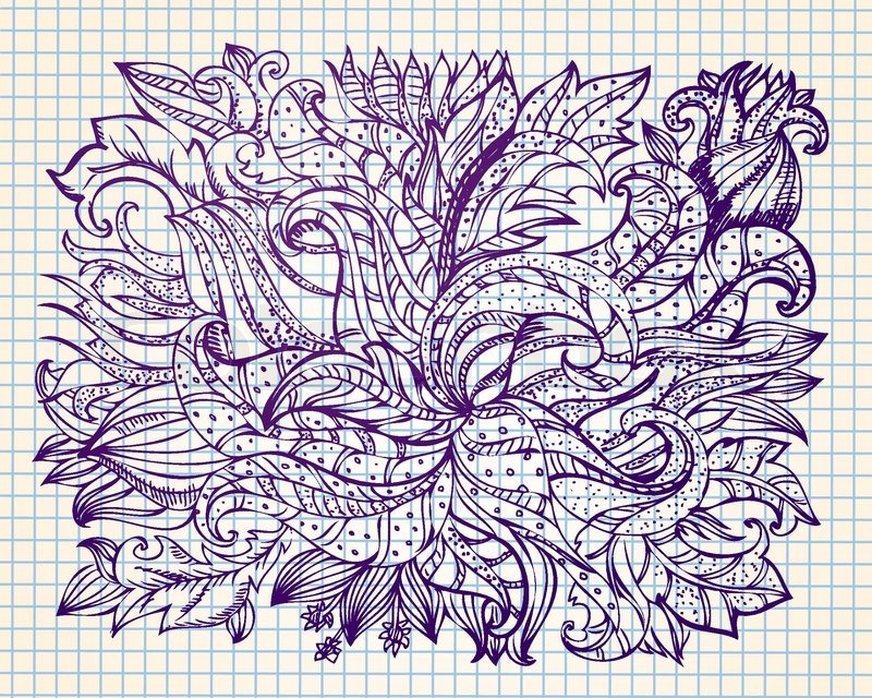 Displaying (20) Gallery Images For Abstract Flower Drawings...