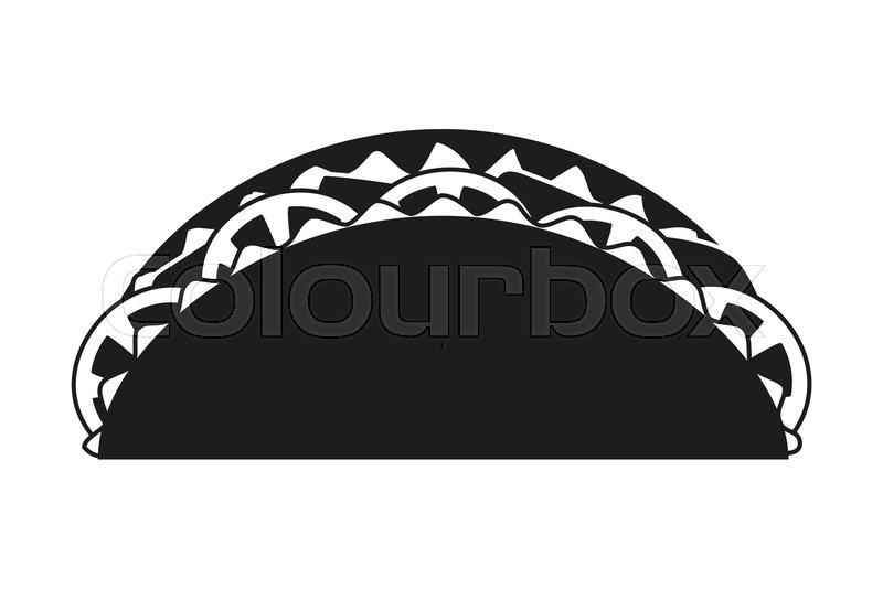 Black And White Taco Silhouette Stock Vector Colourbox
