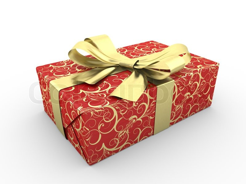 Fancy Money Boxes Red Gift Box Fancy Bow Gold