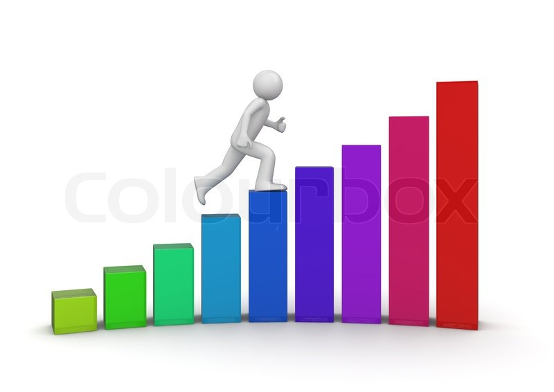 Walking Ladder Of Success Stock Photo Colourbox
