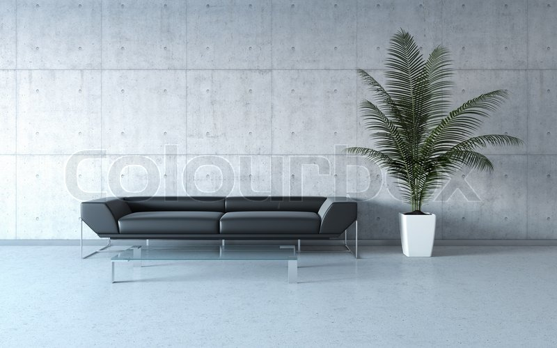Extrem stylish minimalismus innenraum stockfoto colourbox for Minimalismus extrem