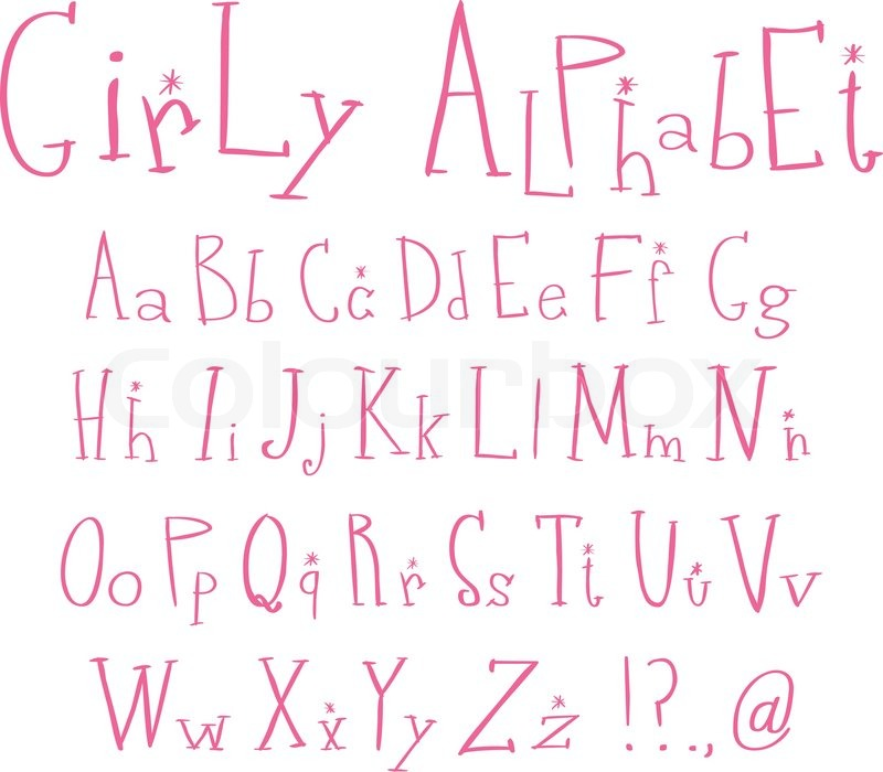 Girly Alphabet Fonts Pink girly alphabet | ...