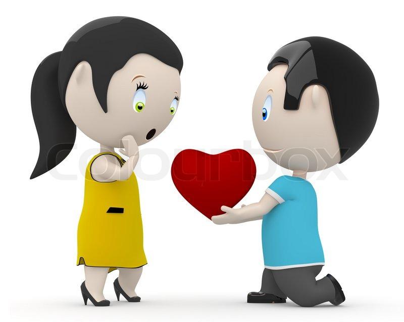 I Love You My Dear Social 3d Stock Photo Colourbox