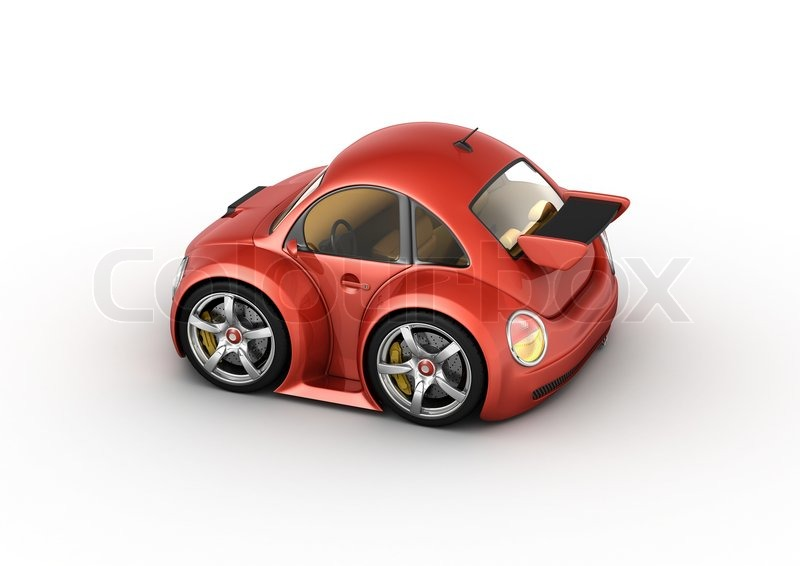 Red Sport Car 3d Isolated On White Background Micromachines Series | Stock  Photo | Colourbox