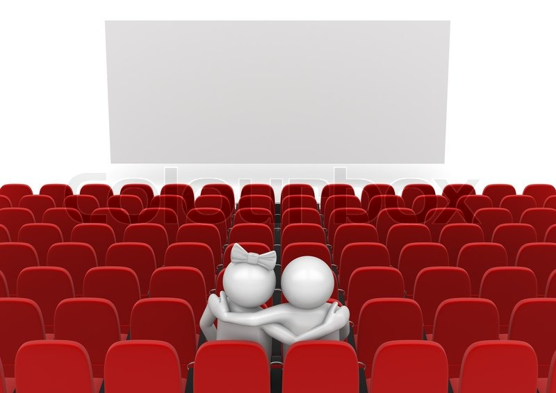 Couple In Cinema Love, Valentine Day Series 3d Isolated Characters | Stock  Photo | Colourbox