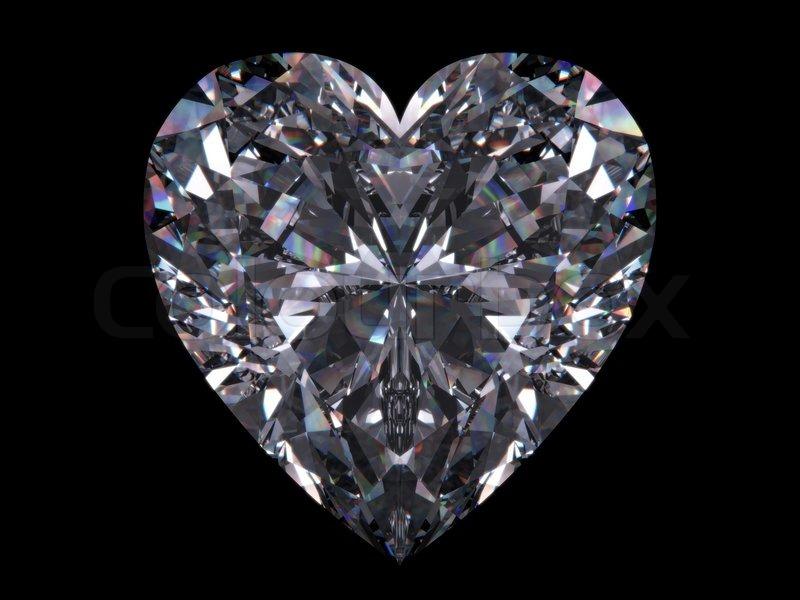 Diamond Heart Love Valentine Day Stock Photo