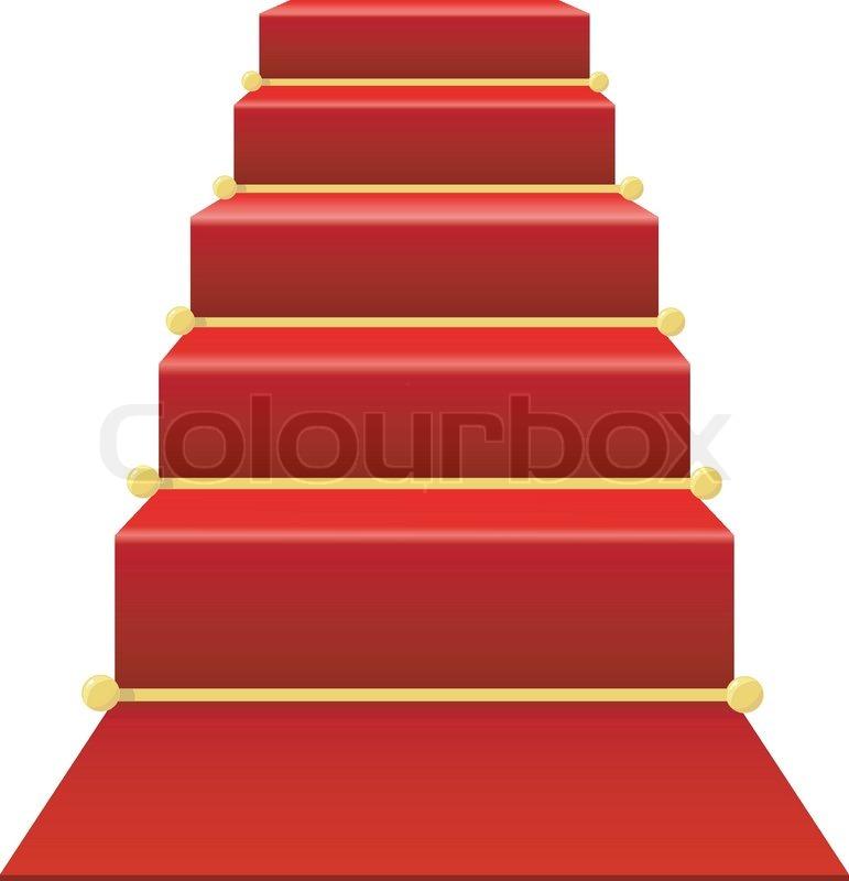 treppenhaus mit rotem teppich vektorgrafik colourbox. Black Bedroom Furniture Sets. Home Design Ideas