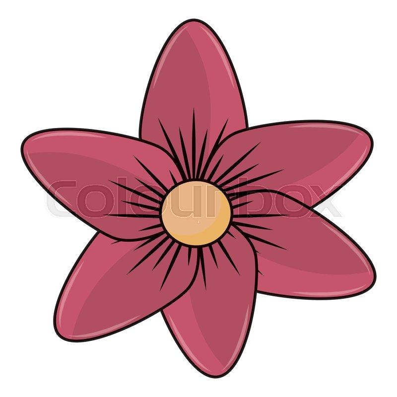 Beautiful flower symbol cartoon vector