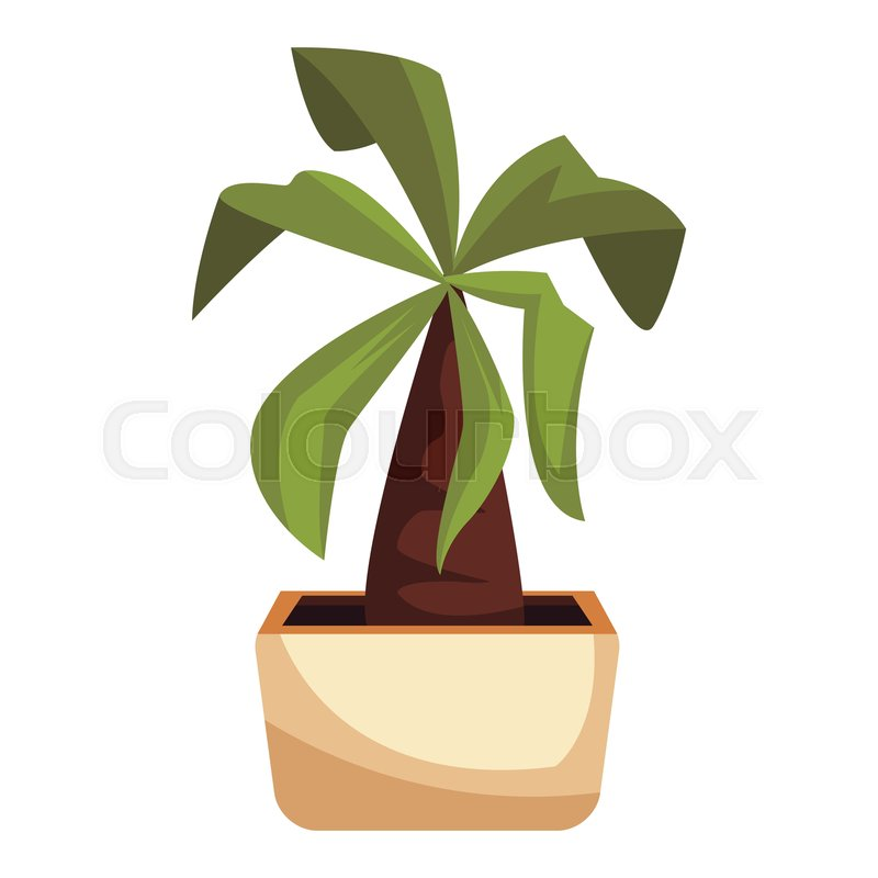 Plant Pot Cartoon Vector Illustration Stock Vector Colourbox These are sculptured to follow the shape. colourbox