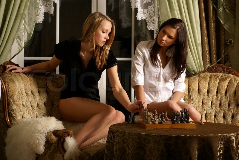 Stock image of 'Sexy girls playing chess': www.colourbox.com/image/sexy-girls-playing-chess-image-3658185