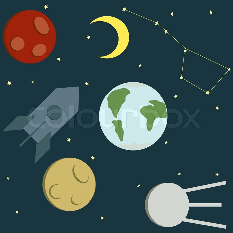 nine planets drawing - photo #15