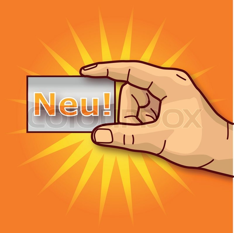 New business card offer hand | Stock Vector | Colourbox