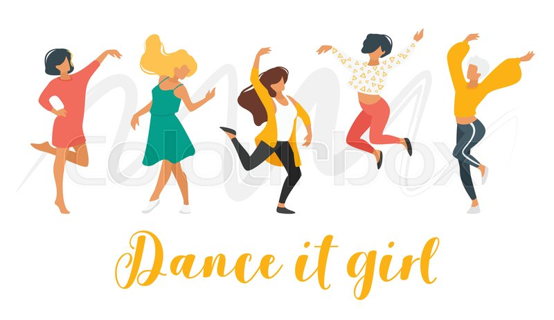 Dancing people vector illustrations ...   Stock vector   Colourbox