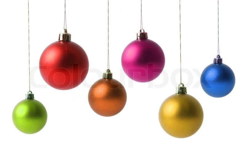 weihnachtskugeln isoliert auf wei stockfoto colourbox. Black Bedroom Furniture Sets. Home Design Ideas