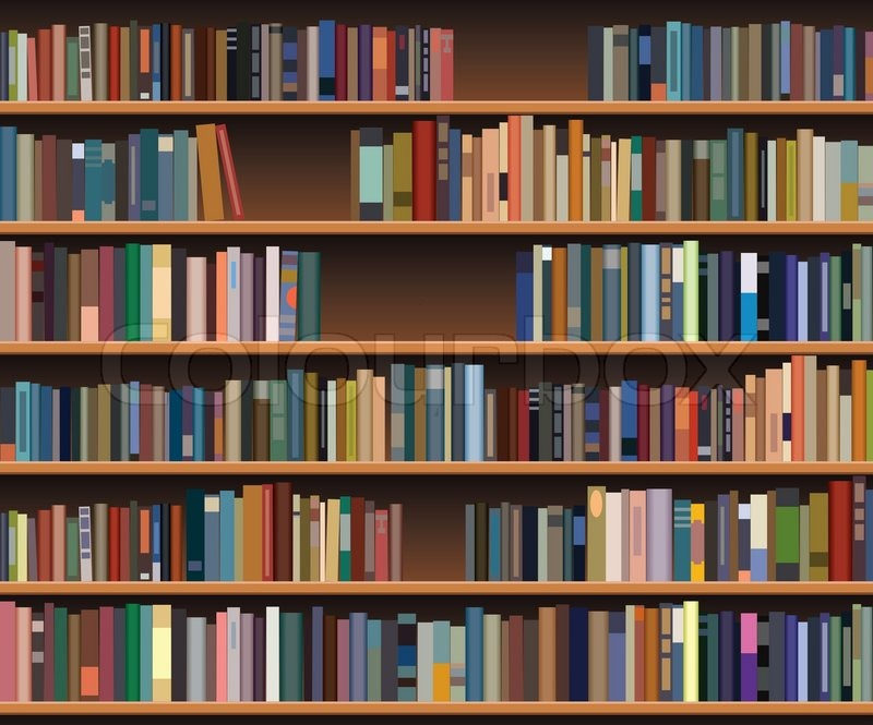 Vector bookshelf | Stock Vector | Colourbox