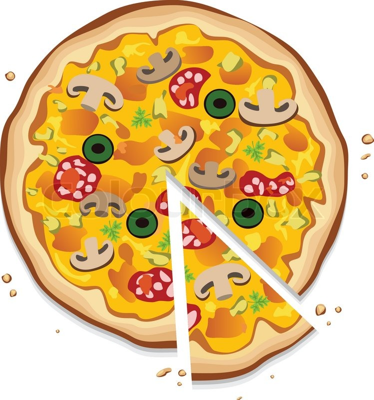 vector italian pizza with a slice on white background stock rh colourbox com pizza vector free pizza vector png