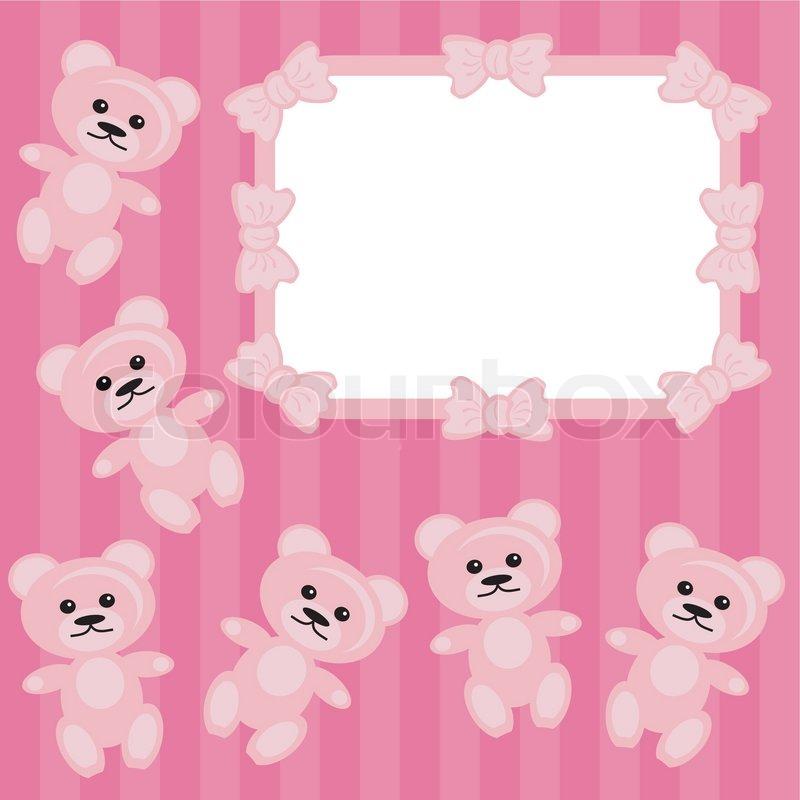 Children frame with teddy bear | Stock Vector | Colourbox
