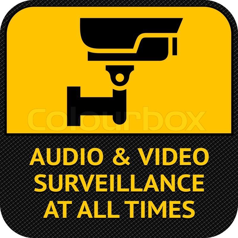 Cctv Symbol Pictogram Security Camera Stock Vector