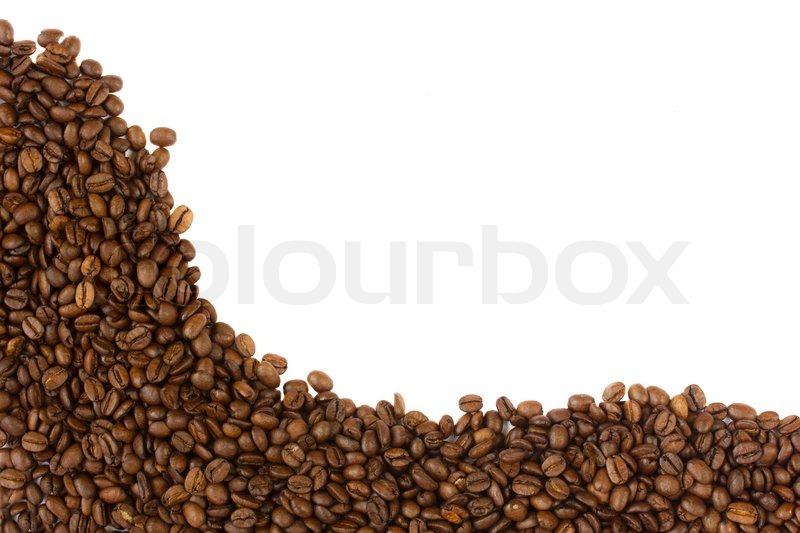 Coffee Bean Border ~ Coffee beans border stock photo colourbox