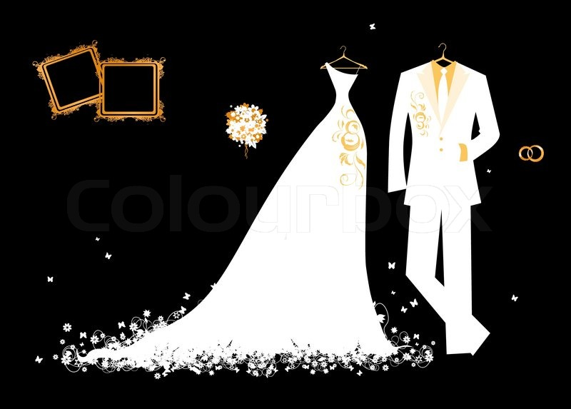 Свадьба на черном фоне