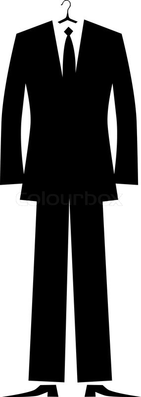 Dress Suit Silhouette Shoes Image